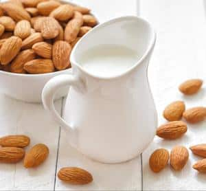 image of a jug of almond milk