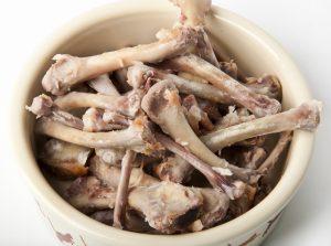 image of a bowl of chicken bones