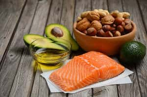 image of healthy fatty acids fish and nuts