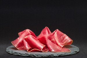 image of red sliced ham