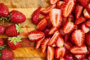 image of red ripe strawberries